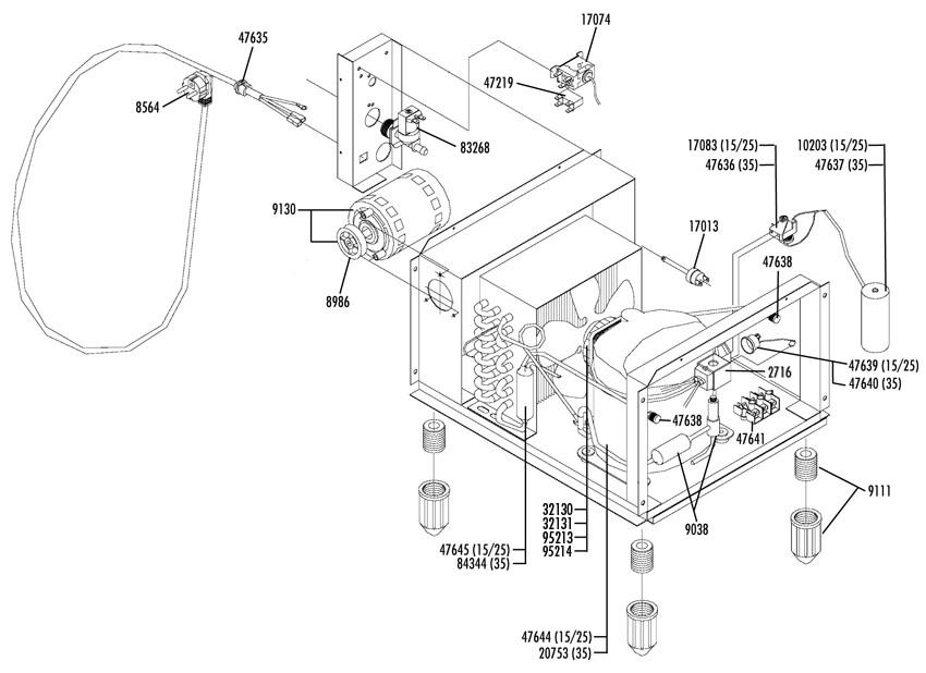 Exploded Views For Horeca Refrigeration Hvac Equipment