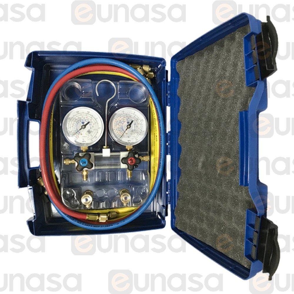 117215 Kit Manómetro Visor R-22/R-134a/R-404/R-407C - Manómetro