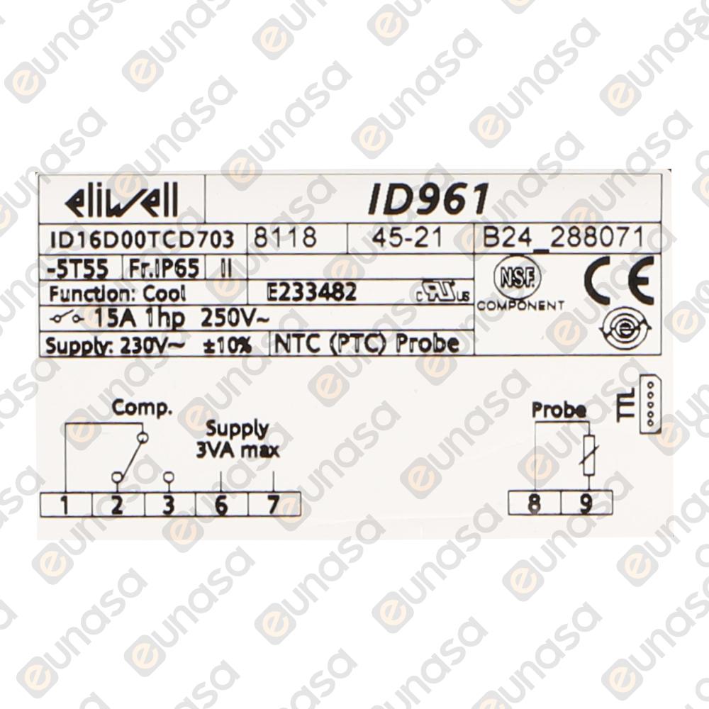 14314 Digital Thermostat 230v Id961