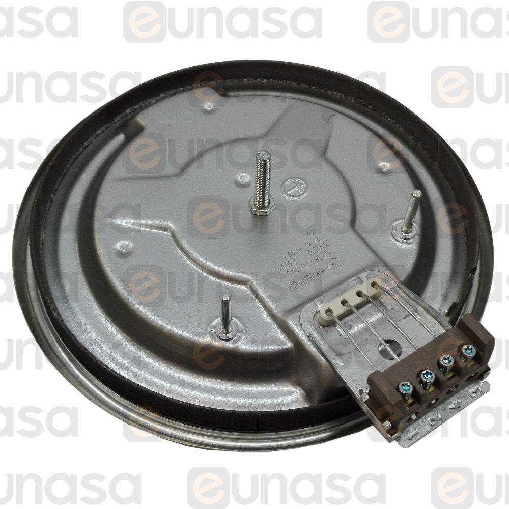 19342 placa electrica cocina 2000w 230v placa el ctrica - Placa electrica cocina ...