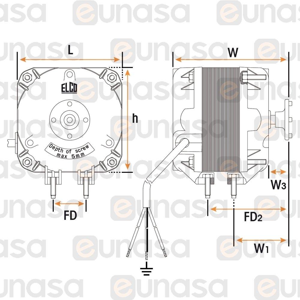 35761 fan motor 230v 50  60hz 25w 1300rpm